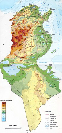 Tunisko Fotoalbum Tunisko Fotky Geograficka Mapa Tuniska